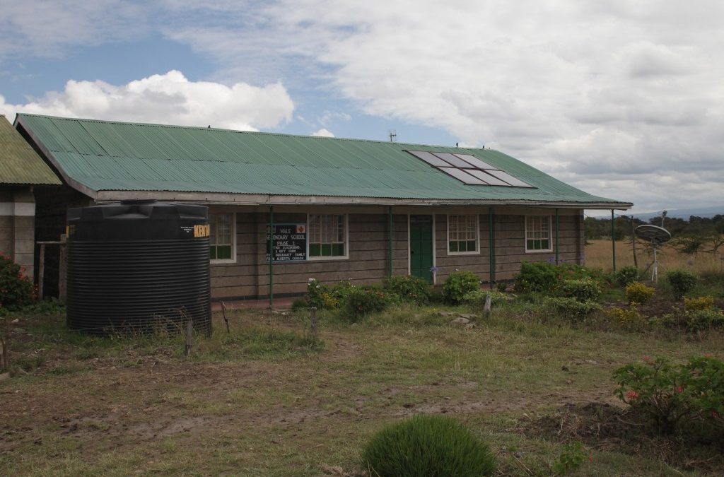 MALE SECONDARY SCHOOL – 2 CLASSROOMS, WATER CATCHMENT AND DISTRIBUTION SYSTEM, AND GARDEN