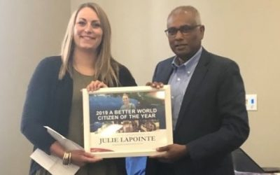 Ponoka teacher Julie Lapointe named A Better World Canada's 2019 Citizen of the Year