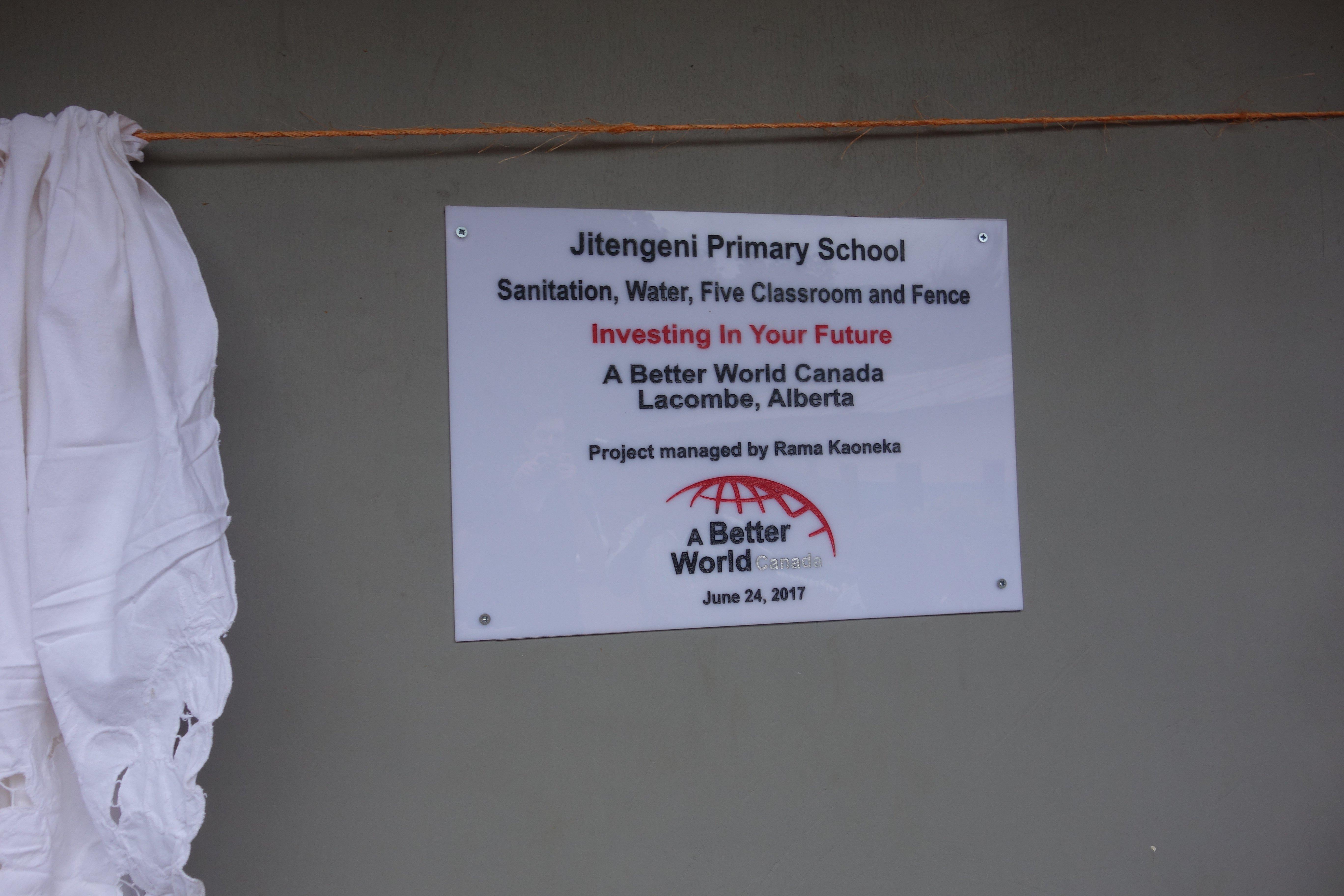 JITENGENI PRIMARY SCHOOL – 24 TOILETS