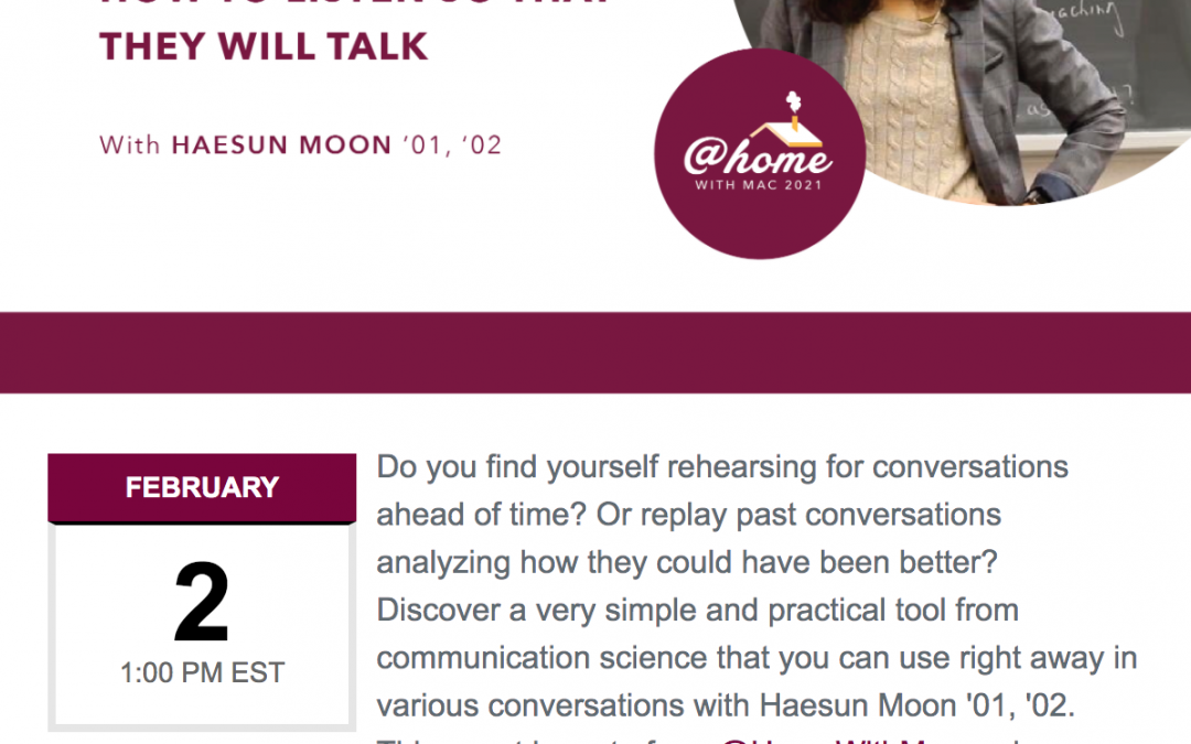 Jan 26 – How are your listening skills?