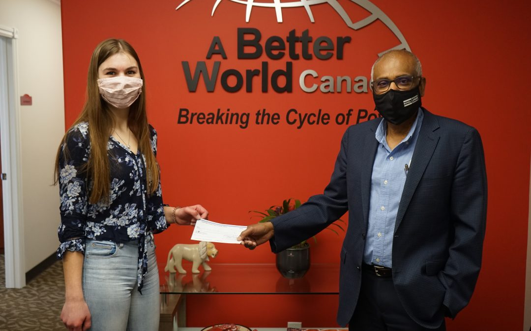 High school student puts award's charitable donation towards helping fellow students