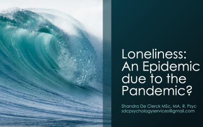 [SLIDES] Loneliness: An Epidemic due to the Pandemic? – Shandra De Clerck